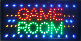 Wholesale Neon Sign Game - 2016 Game Room LED Neon Light Sign Large Size 55CM*33CM Indoor Use of LED Free Shippipng