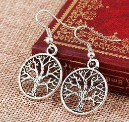 Wholesale Tree Crystal Stud Earrings - Bohemia Tree of Life Ear Stud Earrings for Women Famous Bridal Jewelry Wholesale