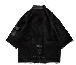 Wholesale Japanese Fashion Kimono - Kimono Japanese Jacket 2018 Spring Streetwear Hip Hop Men Jackets Linen Thin Jacket Fashion Male Clothing Khaki Black Kanye West M-XL
