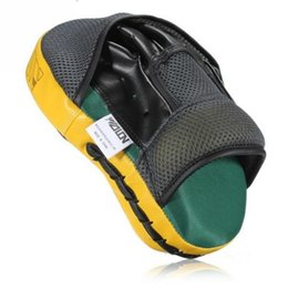 Wholesale Pu Strip - High Stripping Pu Leather Multilayer Compound Cavity Boxing Mitt Protection Shock Absorption Muay Thai Kick Boxing Mma Training