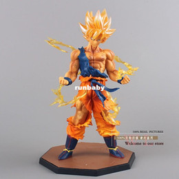 Wholesale Anime Dragon Ball Z Super Saiyan Son Goku PVC Action Figure Collectible Toy CM DBFG071