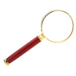 microscope ferramentas 50mm 8x handheld magnifier lens with wooden handle metal frame loupe magnifying glasses reading tool dropshipping uk