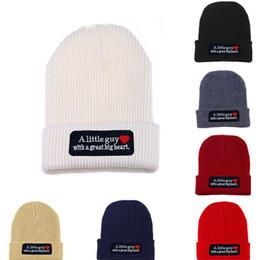 Wholesale Head Ski Women - Fashion Beanie winter knitted skiing wool hat Headgear Headdress Head Warmer Skiing warm hat A Little guy with a great big heart