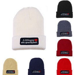 Wholesale Big White Head - Fashion Beanie winter knitted skiing wool hat Headgear Headdress Head Warmer Skiing warm hat A Little guy with a great big heart
