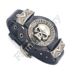 Wholesale Watch Punk - Charm Skull Watch Watchband Design Adjustable Leather Charm Bracelet Bangle Punk Rock Hiphop Decorations Amulet Jewelry 10Pcs