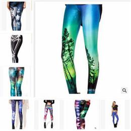 Wholesale Galaxy Style Leggings - 93 Styles Leggings Women new Pants Corpse Bride Women Star Print Pants Galaxy Leggings Black Skull Leggings Pants Springs Women Free Size