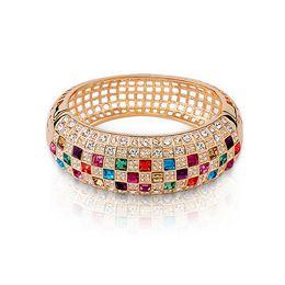 Wholesale Hottest South Korean Women - Queen Bracelet South Korean Hot Selling 18KGP Austrian Crystal queen Bracelets For Women Wedding Bracelets Jewelry BN-00144