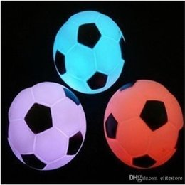 Wholesale Wholesale Football Lamps - Colorful LED Football Night Light LED Soccer Light Color Changing Football Lamp Kids Room LED Party Holiday Decoration Xmas Gift for Sale
