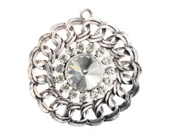 Wholesale Diamond Scarfs - Women New Arrival Circle Alloy Design Diamond Disk Charms Pendant Necklace Scarves 2015 New Diy Jewelry Findings Components Scarf Hm-039