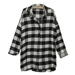 Wholesale Black Button Down Shirt Womens - New Arrival 2016 European Style Womens Long Sleeve Turn Down Collar Blouse Casual Loose Fashion Shirts