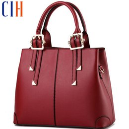 Wholesale Man Hand Bag Brand - Wholesale-Charm in hands Casual Women Shoulder Bag Leather Fashion Medium Women Leather Handbags Famous Brands Luxury Women Bag Tote C0523