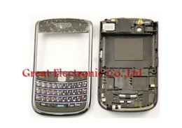 Wholesale Wholesales Blackberry Parts - 100pcs,Full fascia mobile phone replacement housing for BB Bold 9650 cellphone faceplate cover repair case panel frame shell+keypad+part,