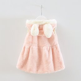 Wholesale New Cheap Baby Boy Clothes - Wholesale-2016 New Girl Cute Rabbit Wool Sweater Vest Girls Burst Long Ears Jacket Soft Baby Girl Clothes Fashion Cheap