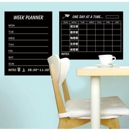 Wholesale Planner Stickers - Weekly schedule Blackbord & Monthly Plan Black Chalkboards Removable Wall Sticker Decal Chalk Boards Deco Week Planner