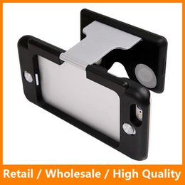 Wholesale Abs Plastic Mobile Phone Case - Fashion Protable Hybird ABS and PC Virtual Reality Lens Cover 3D VR Glasses Anti-shock Mobile Phone Case for iPhone6 6s 6Plus 6sPlus