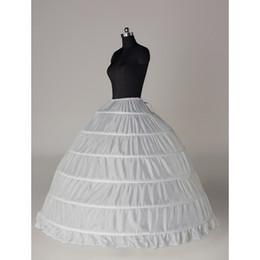Wholesale Bridal Princess Petticoat - Real Simple Ball Gown Petticoats 6 Hoops White Crinoline Slip Wedding Dress Underskirt Bridal Princess Petticoat For Quinceanera Dress