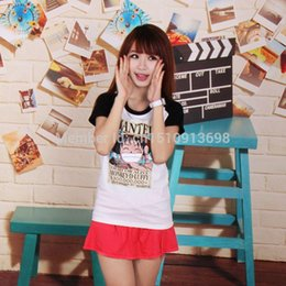Wholesale One Piece Shirts For Women - 1510 One Piece Luffy tshirt couple t-shirt women cotton Tshirt tee short sleeve round neck short-sleeved T-shirt for girl