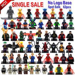 Wholesale Toy Building Blocks Wood - Minifigures For Individually Single Sale Marvel Super Heroes Avengers Batman Building Blocks Model Bricks Toys