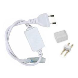 2019 conector impermeable led pin DHL Free 220V110V SMD5050 5630 3528 Conector de tira de LED flexible (enchufe de alimentación) Conector de U.S./EU resistente al agua para cinta de led