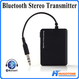 Wholesale tv bluetooth transmitter adapter - Mini Bluetooth Music Transmitter BT 2.1 EDR Audio Transmitter A2DP Stereo Dongle Adapter for TV iPod Mp3 Mp4 PC