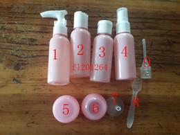 Wholesale Perfume Atomizer Kit - Free Shipping 9 in 1 Travel Kit Transparant Perfume Atomizer Spray Bottle 50ML Clear Plastic Refillable Bottles,170sets lot