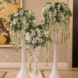 Wholesale Craft Wreaths Wholesale - Simulation Wisteria Garland Craft Wedding Decoration Artificial Flowers For Decoration Silk Flowers Decorative Flowers & Wreaths 110cm 70cm