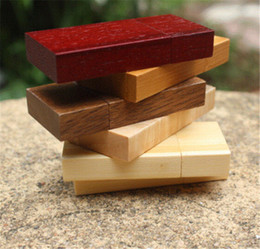 Wholesale flash thumb drives - 100% real natrual wooden 2GB 4GB 8GB 16GB 32GB 64GB USB flash drive pendrive thumb drive for tablet PC with free shipping