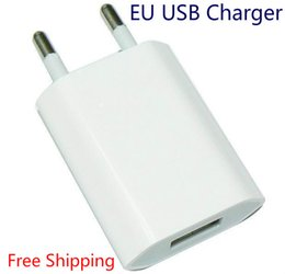 Wholesale Iphone 5s Eu Charger - Wholesale New 2016 5V 1A EU AC USB Wall phone charger for apple iphone 5 5s iphone 4 4s samsung galaxy s4 i9500 s3 note 2 Free shipping