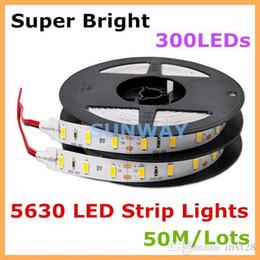 Wholesale Leds W - Super bright SMD 5630 LED strip lights flexible lighting strips 300 LEDs 5M 110LM W lights 5730 60 LEDs M LED lights