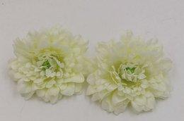Wholesale Flower Milk - Hotl ! 100pcs Milk white Melaleuca Chrysanthemum Daisy Silk Flower Simulation Flower Head DIY Corsage 9-10CM