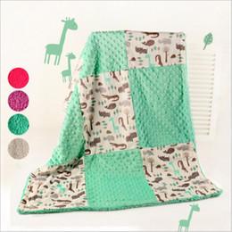 Wholesale Red Fleece Blankets - Baby Blankets Ins Swaddling Toddler Sleeping Bags Newborn Stroller Cart Swaddle Fleece Hole Winter Wraps Photo Nursery Bedding Robes B3503