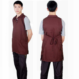 Wholesale High Quality Aprons Wholesale - Novelty Aprons Waterproof Apron High Quality Makeup Apron Hair Memory Fabric Black Blue Brown Red Color 20piece Per Lot DHL Free Shipment