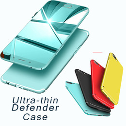Wholesale Armor Bodies - Ultra-Thin Frosted Case Candy Slim Defender Armor Hard PC Candy Case Full Body Back Cover For iPhone X 8 7 6 6S Plus 5 5S OPPO R11 R9S