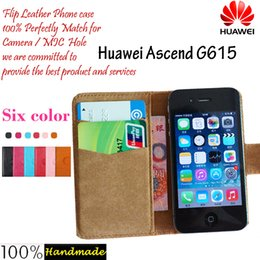 Wholesale Ascend G615 - New arrrive 6 Colors Huawei Ascend G615 Phone Case Factory Price Dedicated Leather Protective Cover Mobile Phone Case SmartPhone