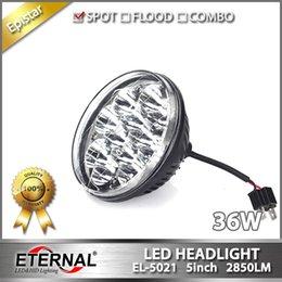 Wholesale Round Atv Headlight - one pair--36W round 5in universal led headlight eplacement kit led headlight for truck ATV powersports