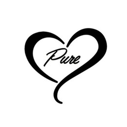 Wholesale Browning Heart Decal - PURE Heart Cute Funny Window Decoration Beauty Temptation Body Decal Car Sticker