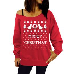 Wholesale New Style Women Sportswear - New 2015 Fashion Letter Printed Tops Women Off Shoulder Hoodies Sweatshirt Winter Christmas Style Ladies Casual Loose Sportswear
