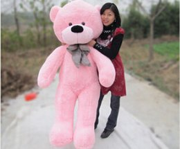Wholesale Pink Stuffed Teddy Bears - Free shipping 120cm giant teddy bear giant plush stuffed toys