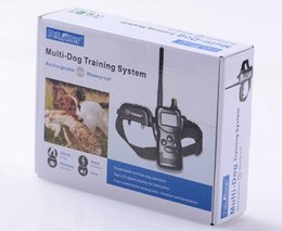 Wholesale Dog Beeper Training - Waterproof Rechargerable 1000M Remote Pet Dog Training Collar System 99 Levers Shock Vibration Beeper 1dog 2dogs DHL SHIP