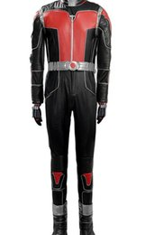Wholesale Xxs Leather - 2015 new Ant-Man cosplay clothing leather suit high-end boutique Avengers one set, fashion Ant-Man cosplay costume
