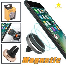 Wholesale Pc For Cars - Car Mount holder Clip 360 Degree Universal Magnetic Air Vent Mount Smartphone Dock Mobile Phone Holder PC CellPhone Holder Stands for iphone