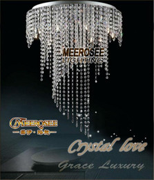 Wholesale Spiral Ceiling Lights - Spiral crystal chandelier ceiling lamp lustres crystal light Clear ceiling lighting Guaranteed 100% prompt shipping MD8551-L8