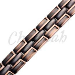 Wholesale Hong Kong Free Shipping - 2015 Men Copper Plating Magnetic Bracelet Free Shipping Bio Health Healing Classic Link Chain Bangle via Hong Kong Post