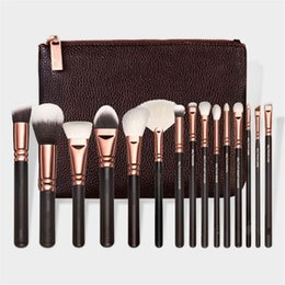 Wholesale Makeup Brush Set 15 - ZOV Makeup Brushes Set 15 pcs face and eyes brushes with pag free shipping