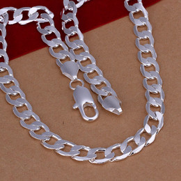Wholesale cheap hot plates - kingslate pretty cute cheap hot strange 925 sterling SILVER fashion wemen men wedding jewelry 8MM CHAIN Necklace Beautiful jewelry N018