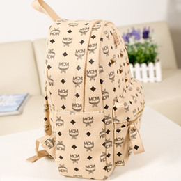 Wholesale American Girl Travel - high quality PU European and American style rivets outdoor sports double shoulder bag student bag travel backpack free delivery
