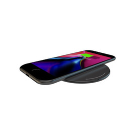 Wholesale Thin Qi Charger - YOGEE Wireless Charger 5mm Thin Matte Aluminum Mini Pad Qi Wireless Charging Pad for Qi-Enabled Devices - Retail Packaging - (Black)