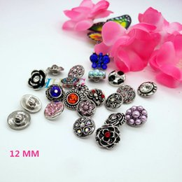 Wholesale Random Buttons - Wholesale-mix 1000 kinds of different style colors 12 mm button snap jewelry interchangeable ginger snap button charm 1 pc Random delivery