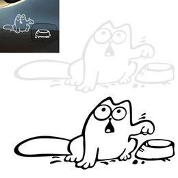 Wholesale Tank Stickers For Car - 16 x 10CM Reflective Material Cat Pattern Creative Funny Car Sticker Accessories for Cars Fuel Tank CEA_31F