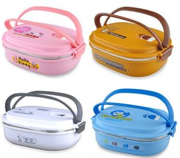 Wholesale Cartoon Food Container - Stainless Steel Thermal Insulated Bento Lunch Box for Kids Portable Sushi Lunchbox Food Container Kitchen Accessories Tableware